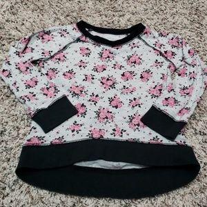 Rose high-low hemline shirt